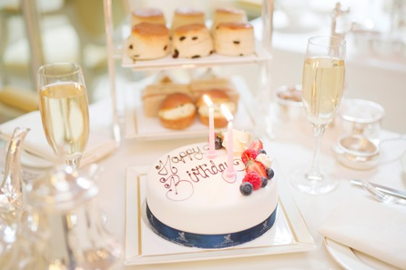 Celebration Afternoon Tea for two with Celebration Cake and Champagne